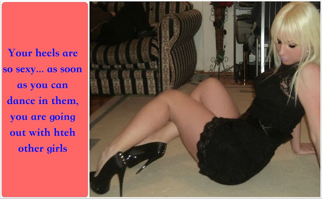 Your heels are so sexy Sissy TG Caption - Veronica ! - Crossdressing and Sissy Tales and Captioned images