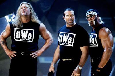 Kevin Nash junto a Razor Ramon y Hulk Hogan