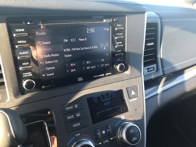 Interior view of 2020 Toyota Sienna