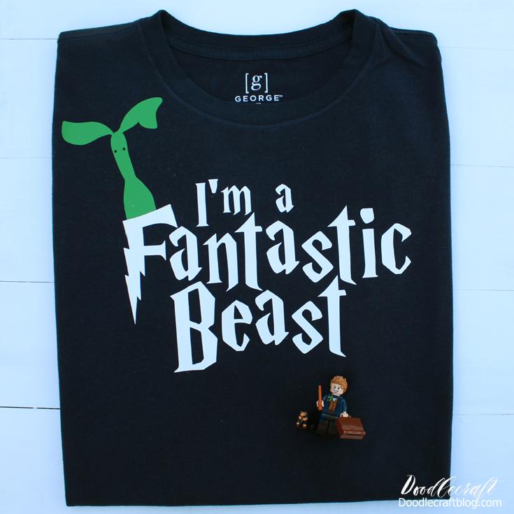 I'm a Fantastic Beast Funny Bowtruckle Shirt DIY with Cricut