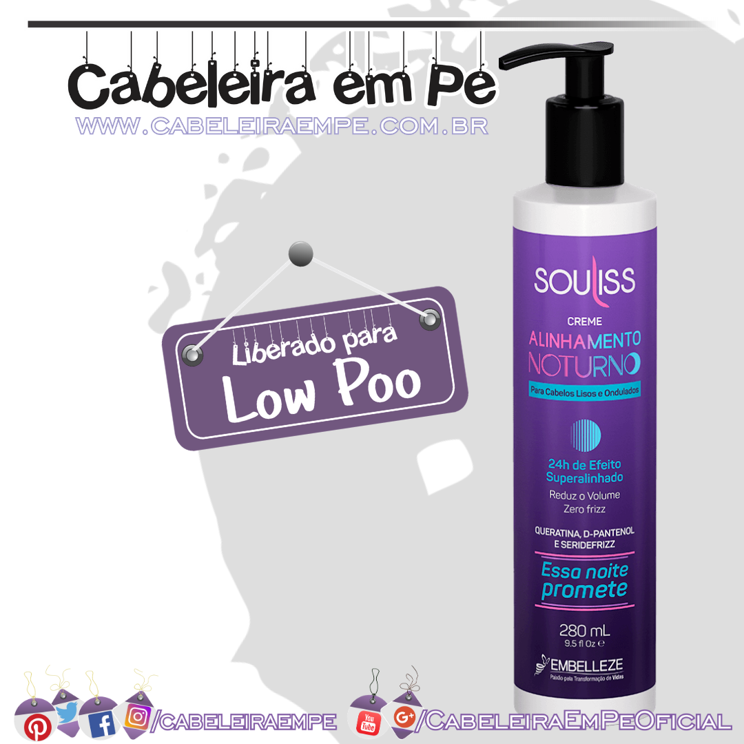 Realinhamento Capilar Sou Liss Alinhamento Noturno - Embelleze (Low Poo)