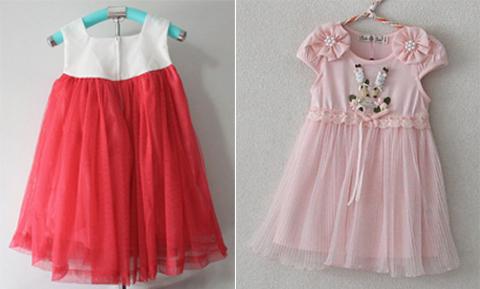 baju pesta anak perempuan import