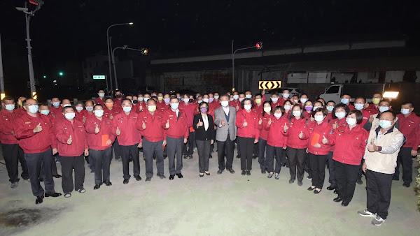彰化縣消防局春節協勤人員慰勞 王惠美慰勞提振士氣