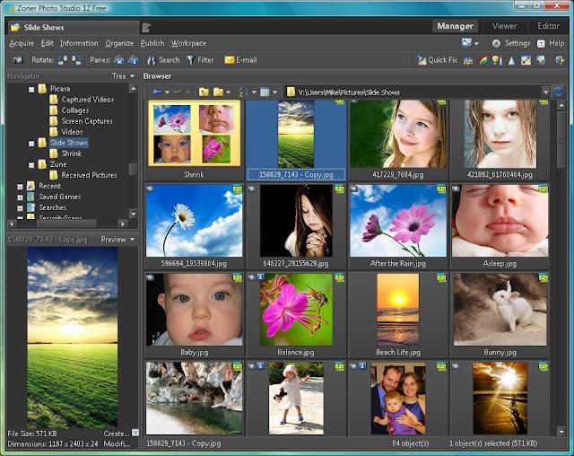 برنامج مجانى لتعديل وإصلاح ومشاركة الصور Zoner Photo Studio 15 FREE