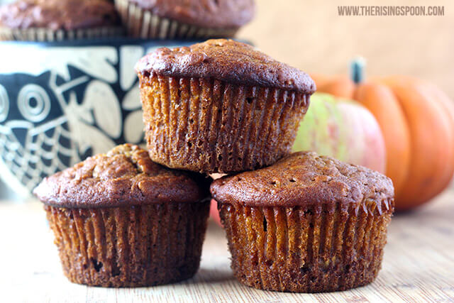 Pumpkin Apple Harvest Muffins