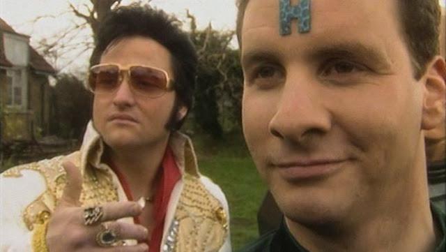 """Rimmer with Elvis (Clayton Mark) in """"Meltdown"""""""