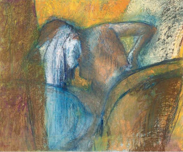 Эдгар Дега - Женщина, просушивающая свои волосы (1905-1910)