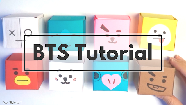 Koori Style, KooriStyle, DIY, Kpop, BTS, Bangtan, BT21, Tutorial, DIY, Craft, Gift, Idea, Ideas, Regalo, Tata, Van, Mang, Koya, RJ, Cookie, Shooky, Chimmy, Template, Printable, Plantilla, Patron, Cute, Kawaii