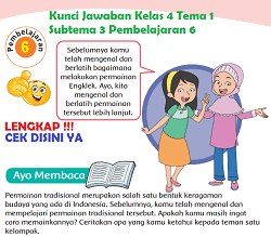 Kunci Jawaban Kelas 4 Tema 1 Subtema 3 Pembelajaran 6 www.simplenews.me