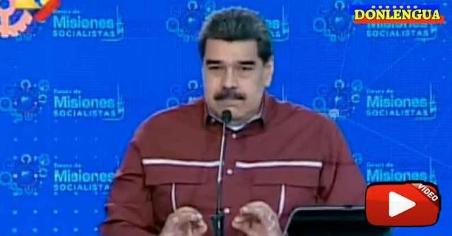 Maduro anuncia que los primeros que serán vacunados serán los chavistas