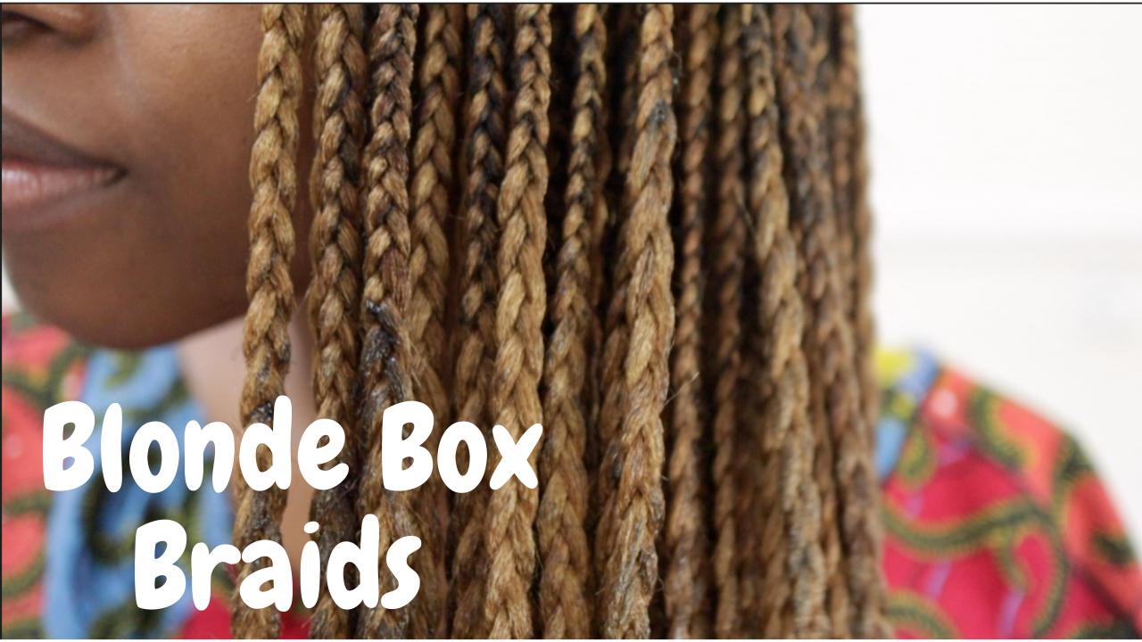 Honey Blonde Box Braids With Natural Hair On Dark Skin Tuke S Quest