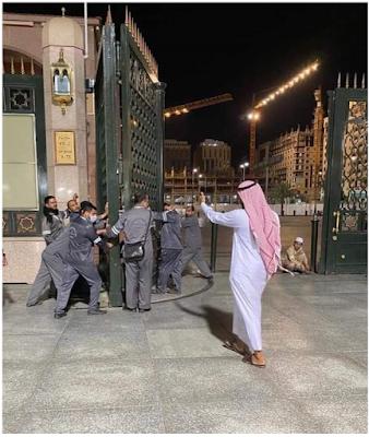 يتم غلق ابواب المسجد النبوي