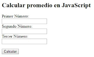 calcular promedio en javascript