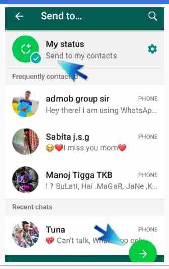 Whatsapp par full status kaise dale.