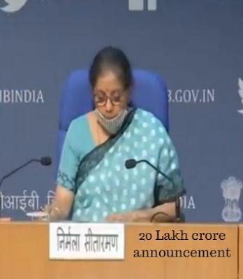 finance minister 20 lakh crore