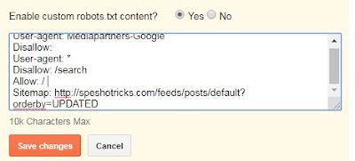How To Add Custom Robot.Txt In Blogger (Blogspot Blog)