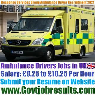 Response Services Group Ambulance Driver Recruitment 2021-22