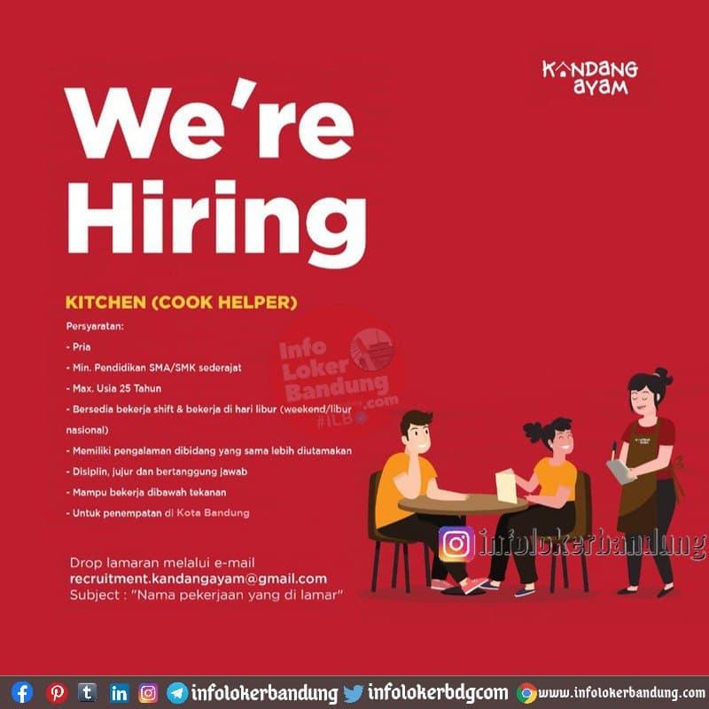 Lowongan Kerja Kitchen ( Cook Helper) Kandang Ayam Bandung Januari 2021