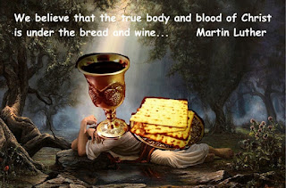 Jesus is under the bread and wine - Luther