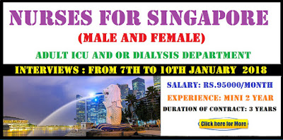 NURSES FOR SINGAPORE MALE AND FEMALE