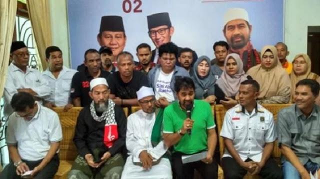 BPN Aceh: 93 Persen Rakyat Aceh Nyoblos Prabowo-Sandi