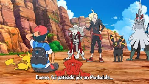 Pokemon Sol y Luna Capitulo 105 Temporada 20 Enfrentamiento de Lycanroc, Satoshi VS Gladio
