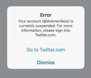 Akun Askmenfess Hilang Kena Suspended Twitter, Kenapa?
