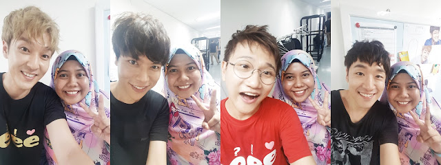 Selfies with each of Sweet Sorrow's member