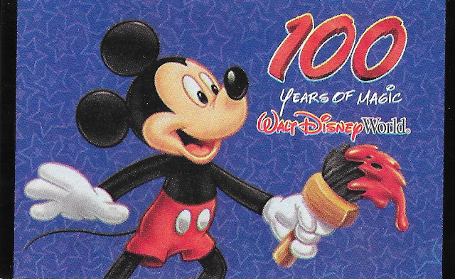 Mickey Mouse Paintbrush 100 Years of Magic Walt Disney World Ticket