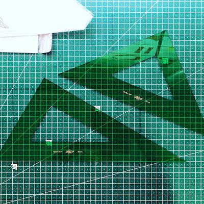 Faibo Técnico - Escuadra Verde 30 Cm + Cartabón 30 Cm