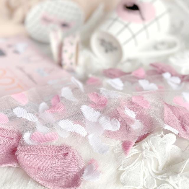 ASOS | Valentines Sheer Heart Socks