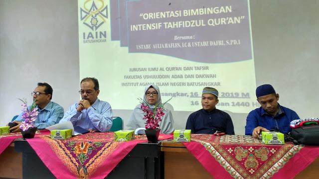 Jurusan Ilmu AL-Qur'an dan Tafsir Selenggarakan Kegiatan Orientasi Bimbingan Tahfidzul Qur'an