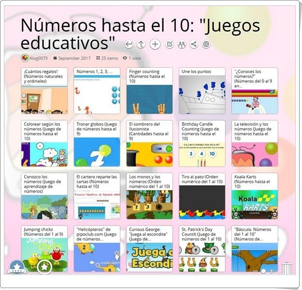 """""""25 Juegos educativos para el aprendizaje de LOS NÚMEROS HASTA EL 10"""""""