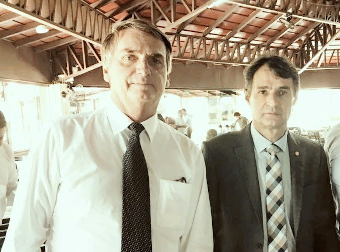 """Bolsonaro sobre Romero Rodrigues: """"Meu irmão, mora no meu coração"""""""