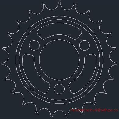 Tutorial AutoCad : Membuat Gear Motor Bag. 1 (2 Dimensi) | Belajar ...