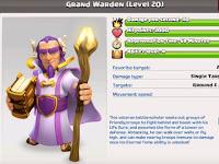 Biaya dan Lamanya Upgrade Grand Warden COC Level 1-20 Terbaru 2017