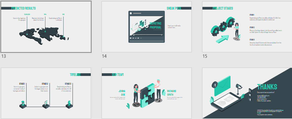 Isometric Proposal Download Free PowerPoint Templates