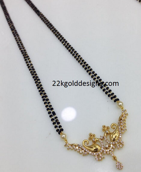 1 Gram Beads: Rs 650 Black Beads Necklace