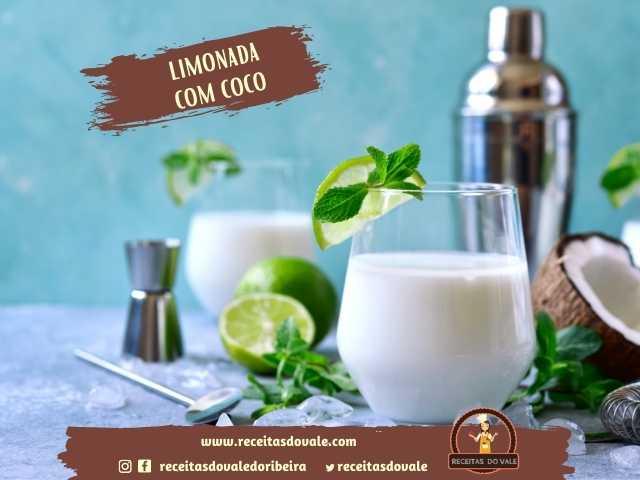 Receita de Limonada com Coco