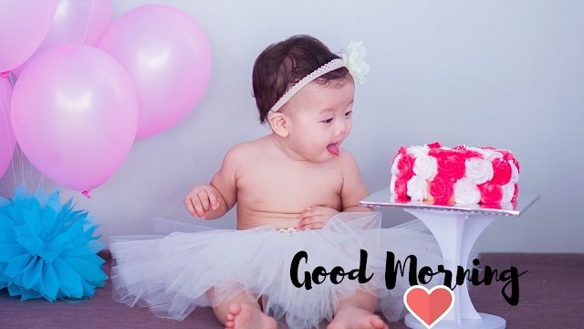 Satisfied Baby Good Morning Images