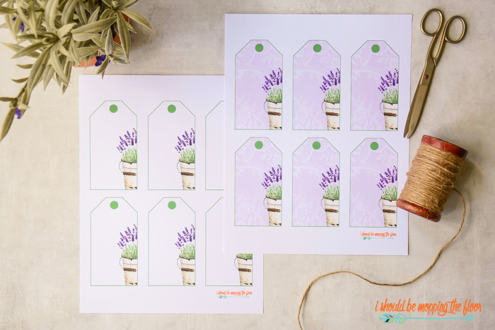 Free Lavender Gift Tag Labels Printable