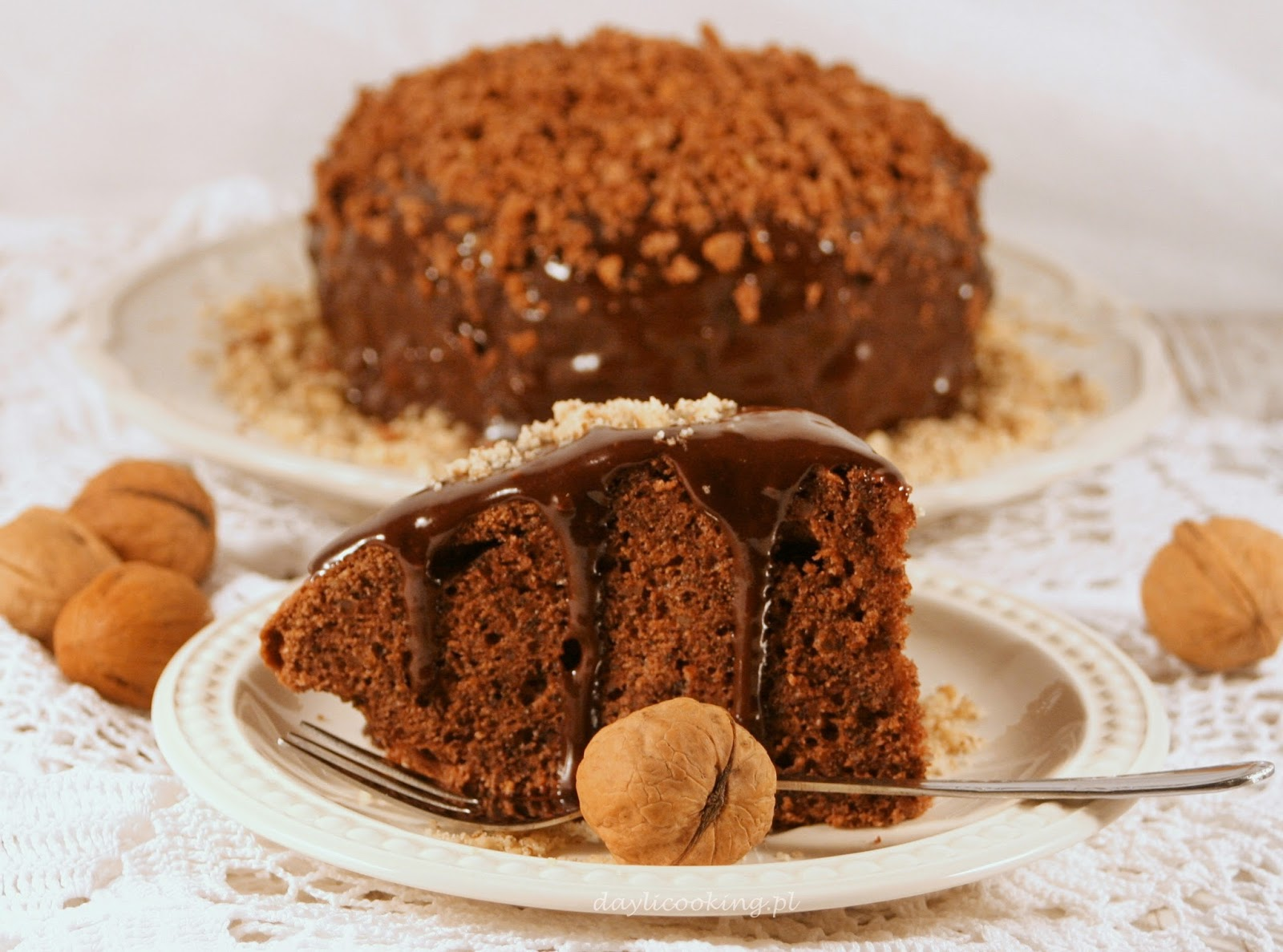 ciasto z włoskich orzechów, ciasto z orzechami
