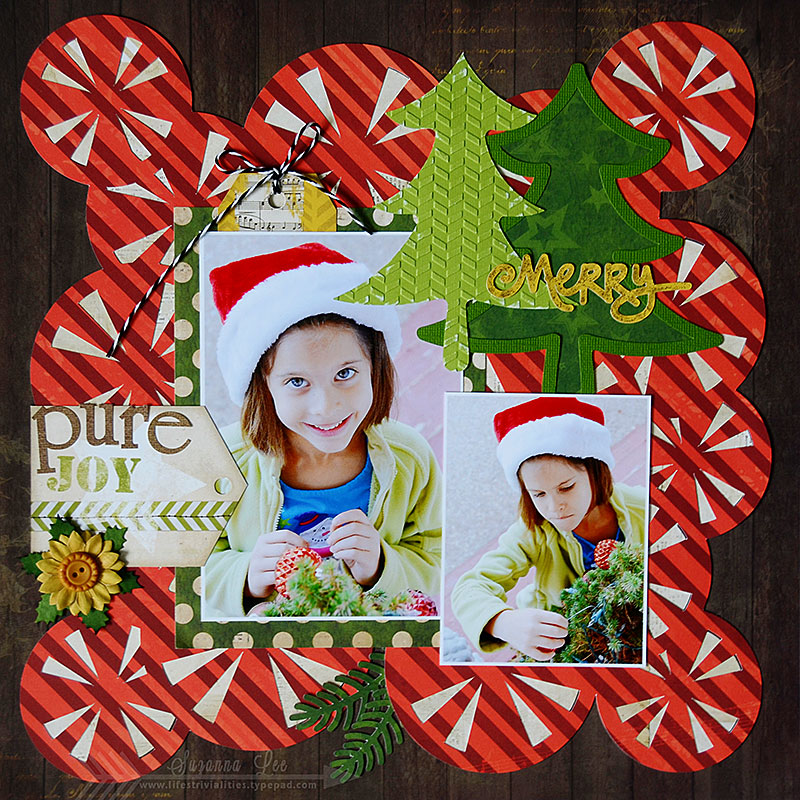 Christmas Scrapbook Page by Suzanna Lee featuring 17turtles Digital Cut Files