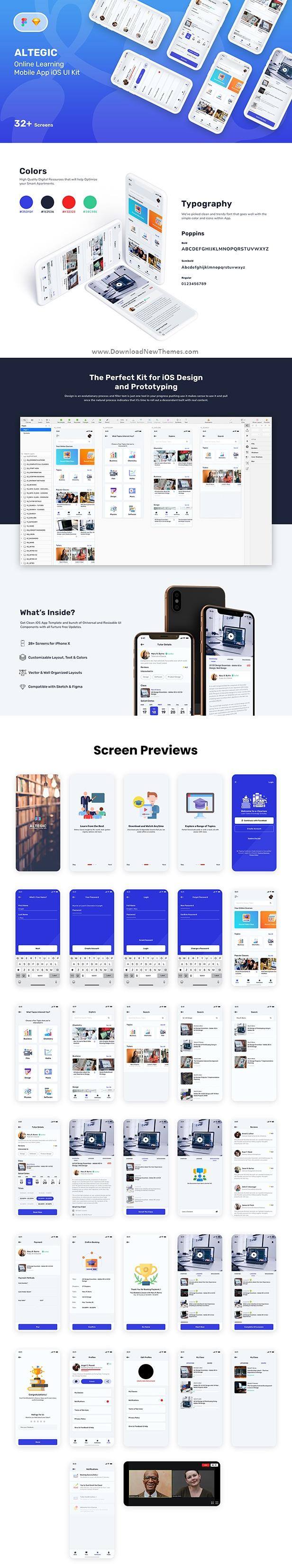 Altegic Online Learning Mobile App UI Kit