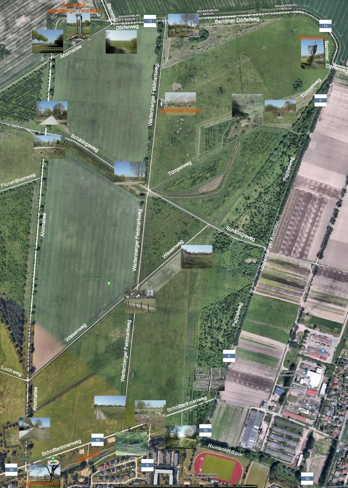 Landschaftspark Wartenberger Feldmark - Rundgang