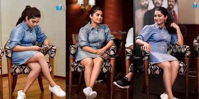 Gouri g Kishan Latest Hot Photos in Short Dress