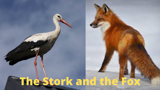The Stork and the Fox, Class: 5, Lesson: 4, Assam, English, Questions And Answers, Full Notes, SCERT