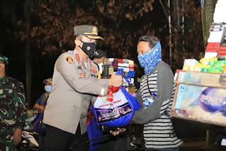 Polda Jateng Kodam IV Diponegoro Gelar Patroli Berskala Besar Dan Baksos di Simpang Lima Semarang