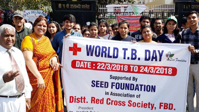 Awareness camp for students at DAV College on World Tuberculosis Day