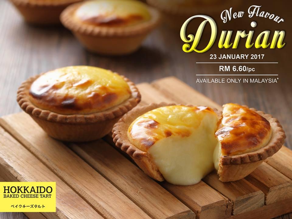 New Flavour Durian Cheesetart Hokkaido Baked Cheese Tart Malaysia